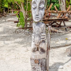 Tropical wood statue, French Polynesia