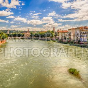 View Over Adige River in Verona, Italy
