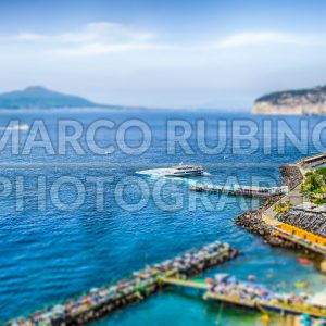 View of the Vesuvius, Italy. Tilt-shift effect applied