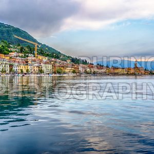 View of the town of Salo, Lake Garda, Italy