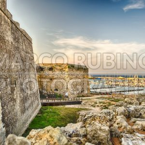 View over Otranto Castle and Harbour, Salento, Italy