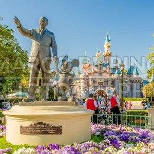 Walt Disney and Mickey Mouse Statue at Disneyland Park, USA
