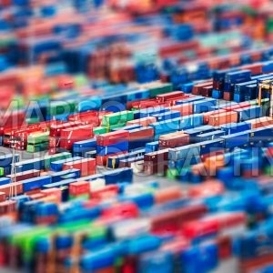 Aerial view over shipping containers stacked on a commercial port - Marco Rubino | Photography - Inspiring imagery for creative projects