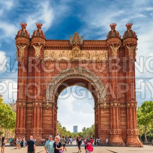 Arc de Triomf, iconic triumphal arc in Barcelona, Catalonia, Spain