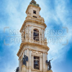 Bell tower, Church of Our Lady of Rosary, Pompei, Italy
