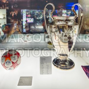 Champions League trophy, Camp Nou Museum, Barcelona, Catalonia, Spain