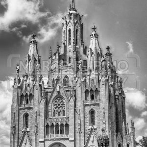 Church of the Sacred Heart, Tibidabo mountain, Barcelona, Catalonia, Spain