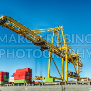 Container crane at the commercial port of Barcelona, Catalonia, Spain - Marco Rubino | Photography - Inspiring imagery for creative projects