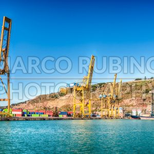 Container cranes at the commercial port of Barcelona, Catalonia, Spain - Marco Rubino | Photography - Inspiring imagery for creative projects
