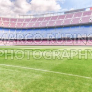 Defocused background with an empty european football stadium