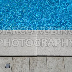 Detail of a beautiful swimming pool edge