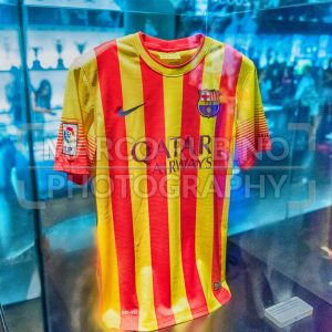 FC Barcelona away shirt, Camp Nou Museum, Barcelona, Catalonia, Spain