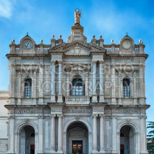 Facade of Church of Our Lady of Rosary, Pompei, Italy