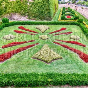 Garden at the Castle of Montjuic, Barcelona, Catalonia, Spain