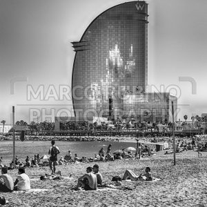 Hotel Vela on Barceloneta beach, Barcelona, Catalonia, Spain