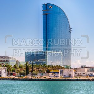 Hotel Vela on the waterfront of Barcelona, Catalonia, Spain