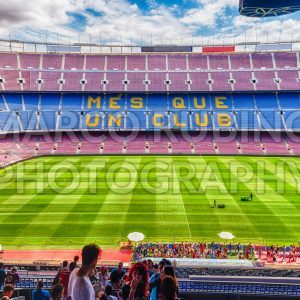 Inside Camp Nou, home stadium of FC Barcelona, Catalonia, Spain