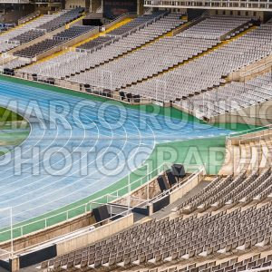 Interior view of the Olympic Stadium, Montjuic, Barcelona, Catalonia, Spain