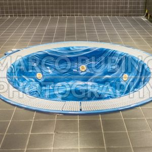 Jacuzzi in the Camp Nou stadium, Barcelona, Catalonia, Spain