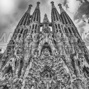 Nativity Facade of the Sagrada Familia, Barcelona, Catalonia, Spain