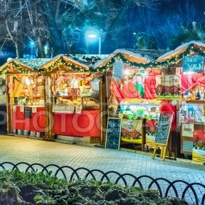 Small Christmas Market at night