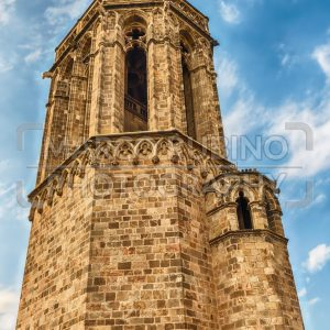 Tower on the top of the Barcelona Cathedral, Catalonia, Spain