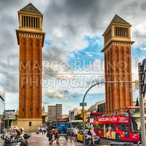 Venetian Towers, iconic landmarks in Barcelona, Catalonia, Spain