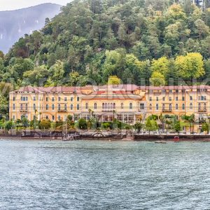 Facade of Villa Serbelloni Hotel in Bellagio, Lake Como, Italy