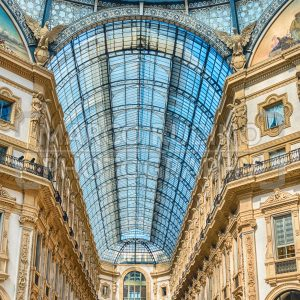 Galleria Vittorio Emanuele II, iconic shopping center in Milan, Italy