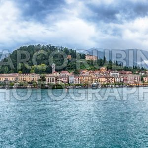 Panoramic view of Bellagio waterfront on the Lake Como, Italy