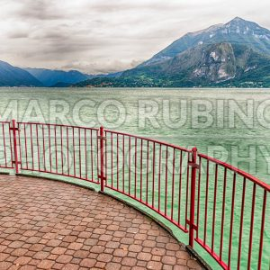 Scenic balcony over the landscape of Lake Como, Italy