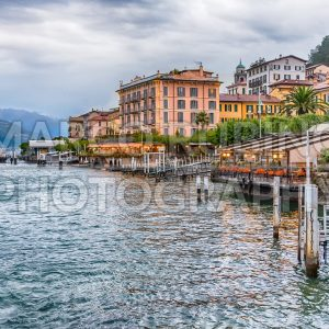 View of Bellagio waterfront on the Lake Como, Italy