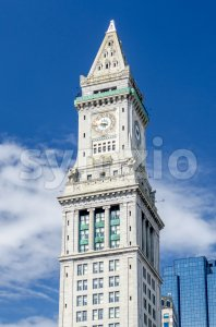 Custom House Tower, Boston, USA Stock Photo