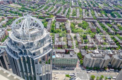 Aerial view of central Boston, USA Stock Photo