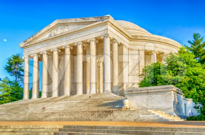 Jefferson Memorial in Washington DC, USA Stock Photo