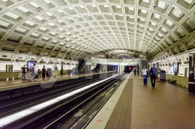 Metro Center subway station in Washington DC, USA Stock Photo
