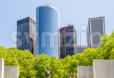 Skyscrapers in lower Manhattan, New York City, USA Stock Photo