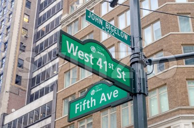 5th Avenue sign, New York City, USA Stock Photo