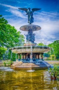 Bethesda Fountain in Central Park, New York City, USA Stock Photo