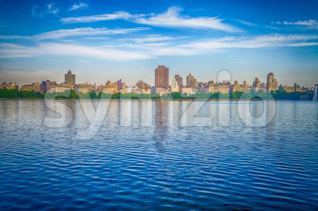 Reservoir in Central Park, New York City, USA Stock Photo