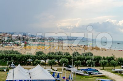 Waterfront of Pescara on the Adriatic Sea, Italy Stock Photo