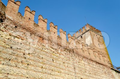 View of Castelvecchio Scaliger Castle in Verona, Italy Stock Photo
