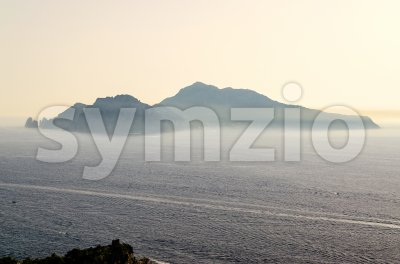 Aerial view of the Island of Capri, Italy Stock Photo