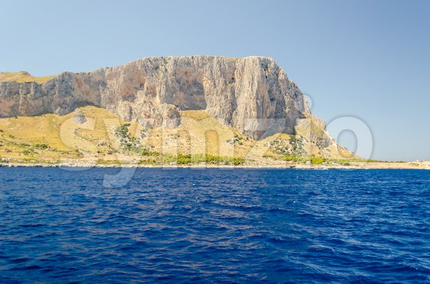 View from the sea of San Vito Lo Capo, Trapani, Italy Stock Photo
