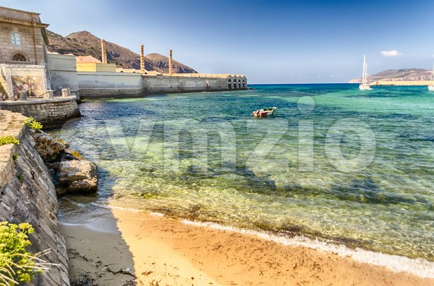 Island of Favignana, Aegadian Islands, Sicily, Italy Stock Photo