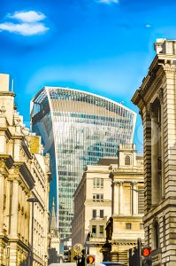 20 Fenchurch street, aka Walkie Talkie Tower, London, UK Stock Photo