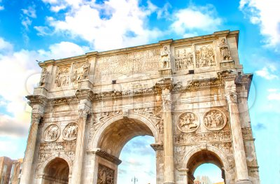 Arch of Constantine, Rome, Italy Stock Photo