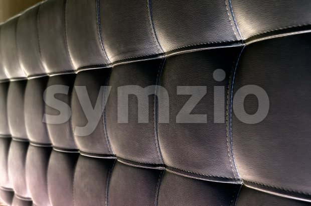 Tufted leather headboard texture for background Stock Photo