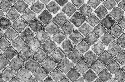 Black and White Stone Brick Wall Texture, may use as background Stock Photo