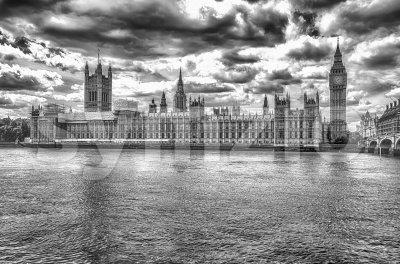 Palace of Westminster, Houses of Parliament, London, UK Stock Photo